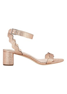 Loeffler Randall Emi Rose Gold Leather Sandals