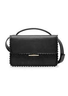 Loeffler Randall Emma Scallop-Trim Leather Crossbody Bag