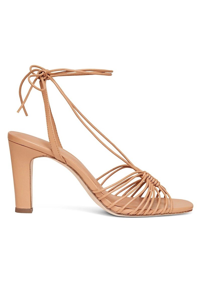 Hallie Strappy Ankle Wrap Heeled Sandals