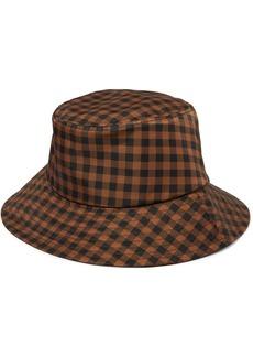 Loeffler Randall Ivy Checked Twill Bucket Hat