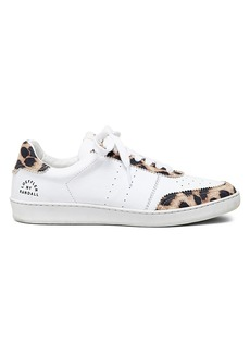 Loeffler Randall Keeley Leopard-Print Leather Sneakers
