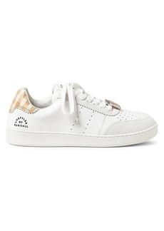 Loeffler Randall Keeley Gingham Leather Low-Top Sneakers