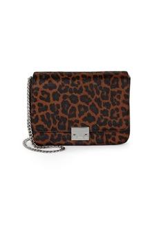 Loeffler Randall Leopard Calf-Hair & Leather Shoulder Bag