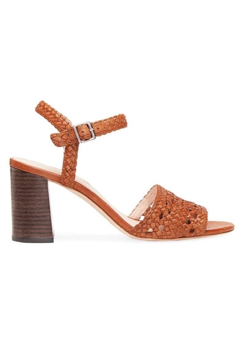 Loeffler Randall Liana Woven Metallic Leather Sandals