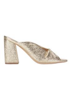 Loeffler Randall Laurel Crinkle Metallic Gold Sandals
