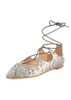 Loeffler Randall Ambra Lace-Up Ballerina Flat
