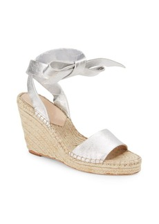 Loeffler Randall Ankle-Wrap Open-Toe Wedge Sandals