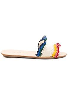 Loeffler Randall Birdie Ruffle Sandal in Cream. - size 10 (also in 6.5,7,7.5,8,8.5,9,9.5)