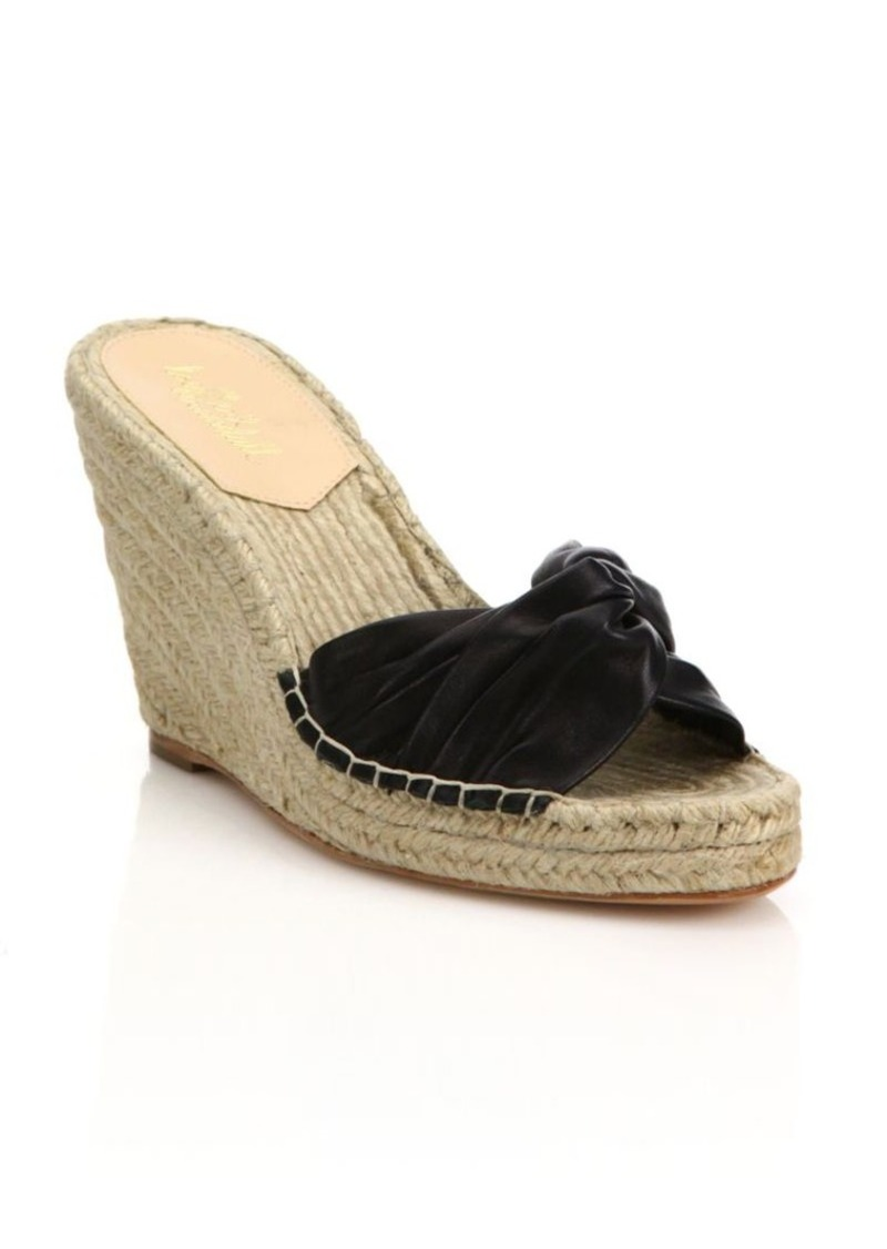 198c9810448 Blanche Twisted Leather Espadrille Wedge Sandals