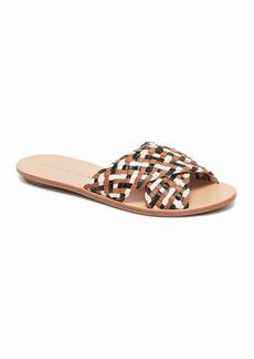 Loeffler Randall Claudie Woven Leather Slide Sandals