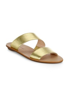 Loeffler Randall Clem Leather Double Strap Sandals