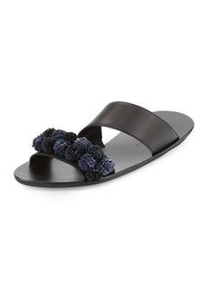 Loeffler Randall Clem Pompom Slide Sandal