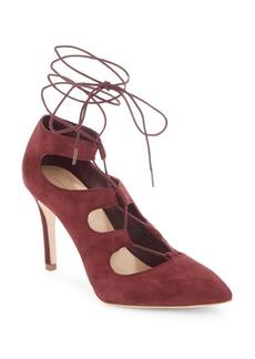 Loeffler Randall Delfine Bordeaux Lace-Up Heels