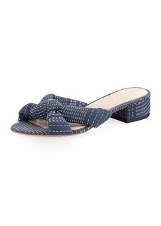 Loeffler Randall Elsie Stitched Denim Mule Sandal