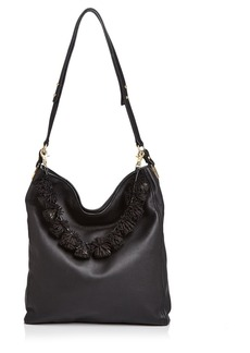 Loeffler Randall Fringe Strap Leather Hobo