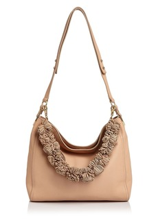 Loeffler Randall Fringe Strap Mini Leather Hobo