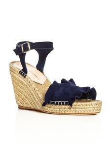 Loeffler Randall Gabby Ankle Strap Espadrille Wedge Sandals