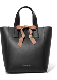 Loeffler Randall Grosgrain-trimmed textured-leather tote
