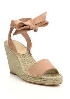 Loeffler Randall Harper Suede Espadrille Wedge Sandals