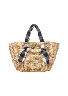 Loeffler Randall Hazel Straw Wide Tote Bag