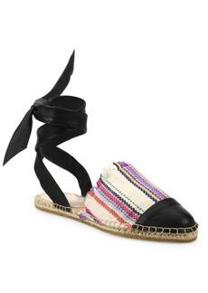 Loeffler Randall Heloise Canvas Ankle-Wrap Espadrilles