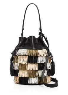 Loeffler Randall Industry Fringe Bucket Bag
