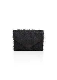 Loeffler Randall Junior Lock Fringe Leather Clutch