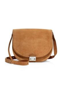 Loeffler Randall Large Suede Saddle Bag