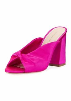 Loeffler Randall Laurel Satin Block-Heel Slide Sandal