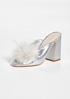 Loeffler Randall Laurel Twist Slides with Feathers