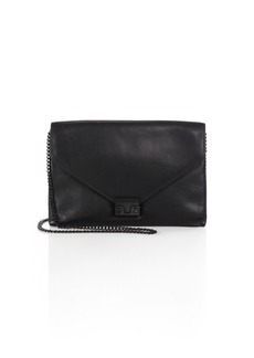 Loeffler Randall Leather Envelope Lock Clutch
