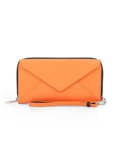 Loeffler Randall Leather Zip Wallet