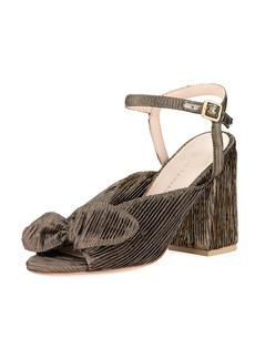 Loeffler Randall Leigh Metallic Ankle-Strap Sandal