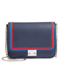 Loeffler Randall Lock Leather Flap Clutch/Shoulder Bag