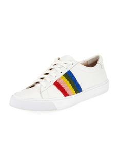 Loeffler Randall Logan Rainbow Leather Low-Top Sneakers