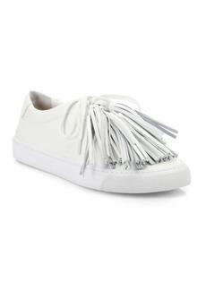 Loeffler Randall Logan Leather Tassel Sneakers