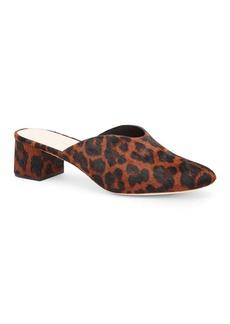 Loeffler Randall Lulu Leopard-Print Calf Hair Mules