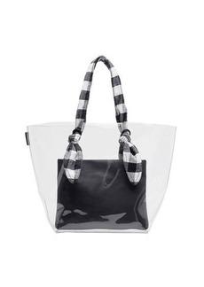 Loeffler Randall Lydia Transparent Gingham-Strap Tote Bag
