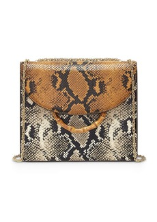 Loeffler Randall Marla Square Snake-Print Convertible Shoulder Bag