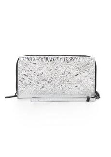 Loeffler Randall Metallic Leather Zip Wallet
