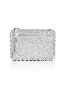 Loeffler Randall Nina Metallic Leather Card Case