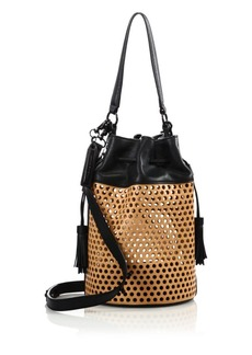 Loeffler Randall Perforated Bucket Bag