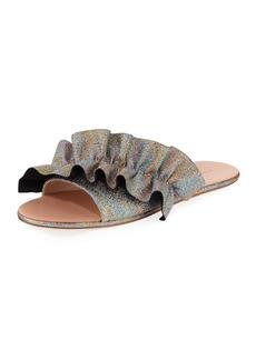 Loeffler Randall Rey Ruffled Flat Slide Sandal