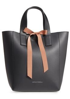 Loeffler Randall Ribbon Tie Leather Top Handle Shopper