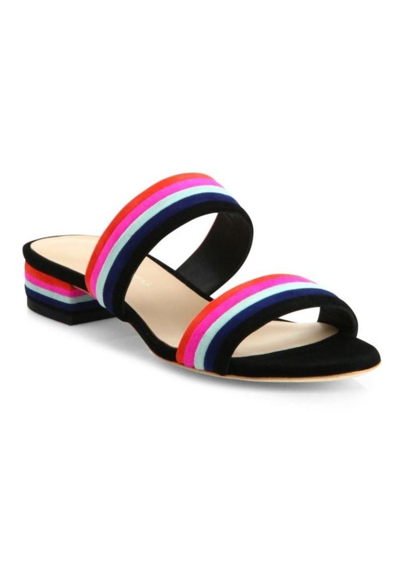 Loeffler Randall Rubie Stripe Suede Slides