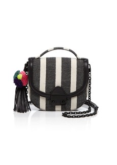 Loeffler Randall Striped Mini Canvas Saddle Bag - 100% Exclusive