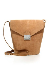 Loeffler Randall Suede Crossbody Bucket Bag