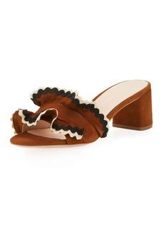 Loeffler Randall Vera Suede Ruffled 50mm Sandal
