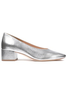 Loeffler Randall Woman Brooks Metallic Textured-leather Pumps Silver