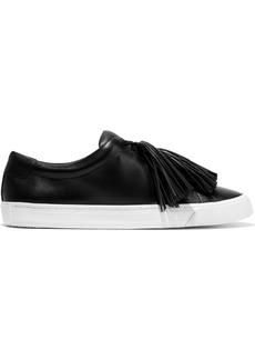 Loeffler Randall Woman Logan Tasseled Leather Sneakers Black